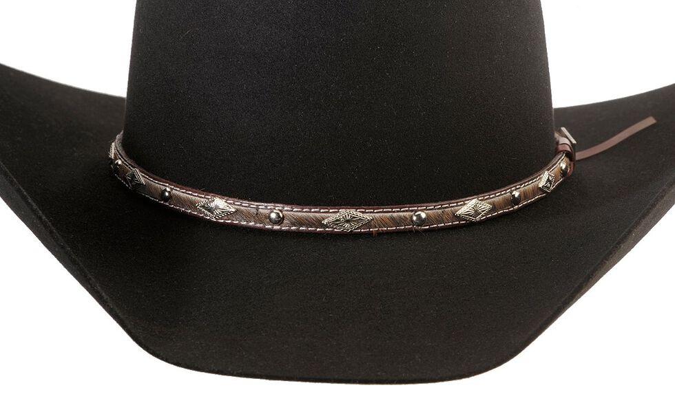 Larry Mahan 5X Brindle Fur Felt Cowboy Hat, Black, hi-res