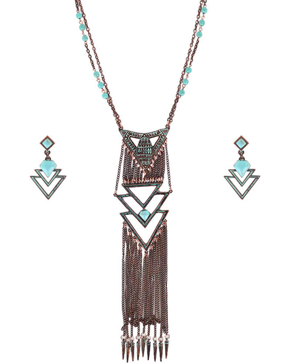 Shyanne Women's Vintage Western Jewelry Set , Turquoise, hi-res