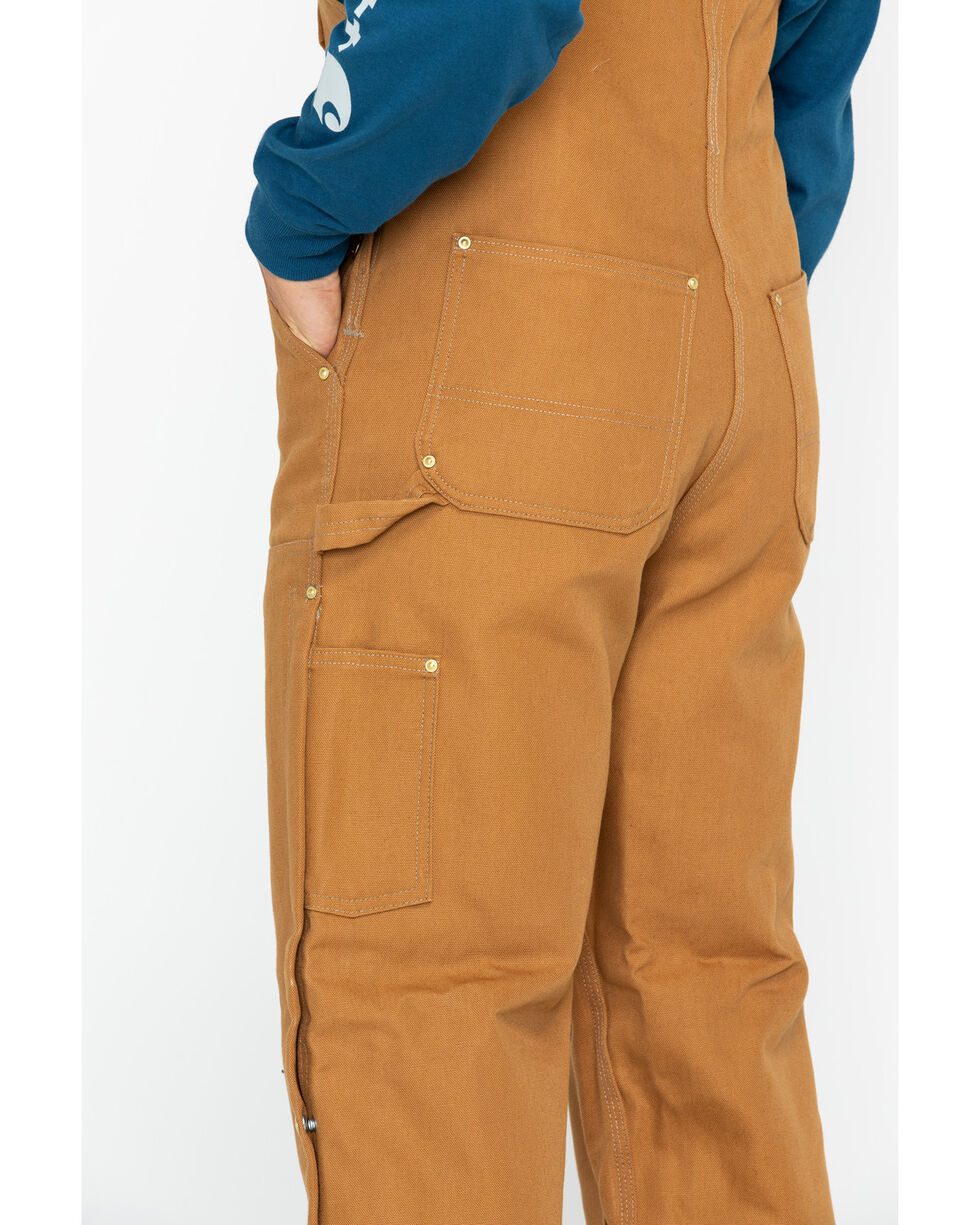 Carhartt Duck Bib Overalls, Brown, hi-res