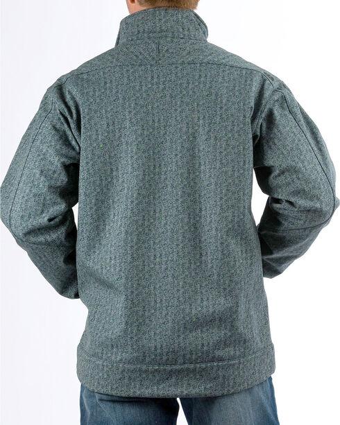 Cinch Men's Print Bonded Jacket, Green, hi-res
