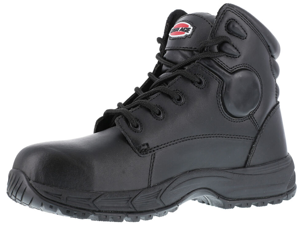 Iron Age Men's Ground Finish Work Boots - Steel Toe, Black, hi-res