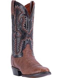Dan Post Men's Moses Bullhide Western Boots - Round Toe, Chocolate, hi-res