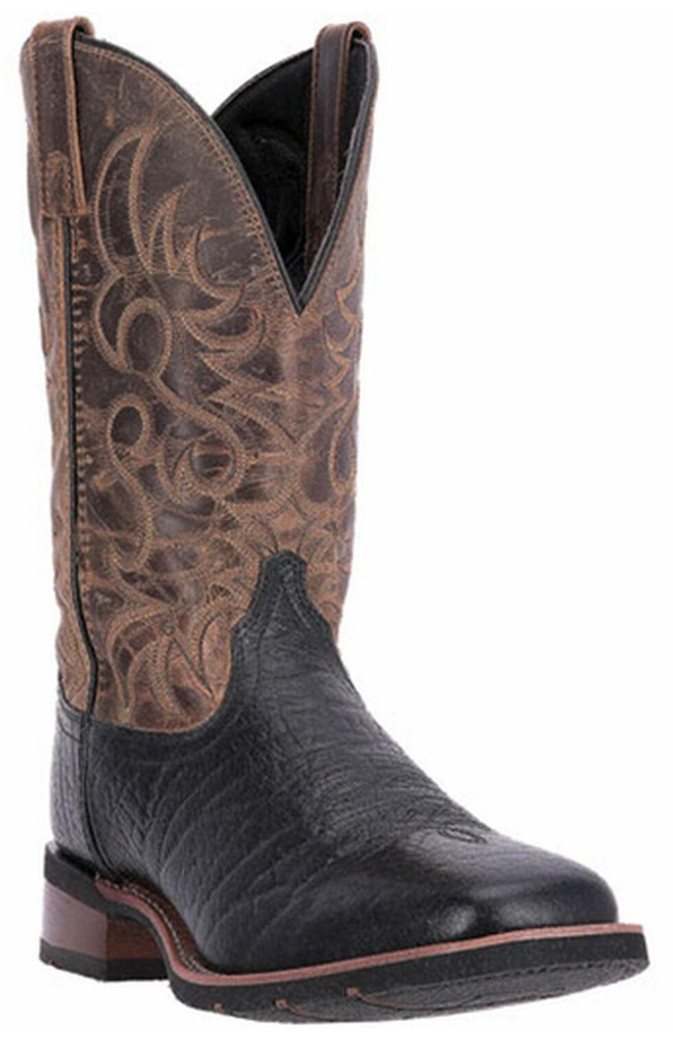 Laredo Topeka Cowboy Boots - Square Toe, Black, hi-res