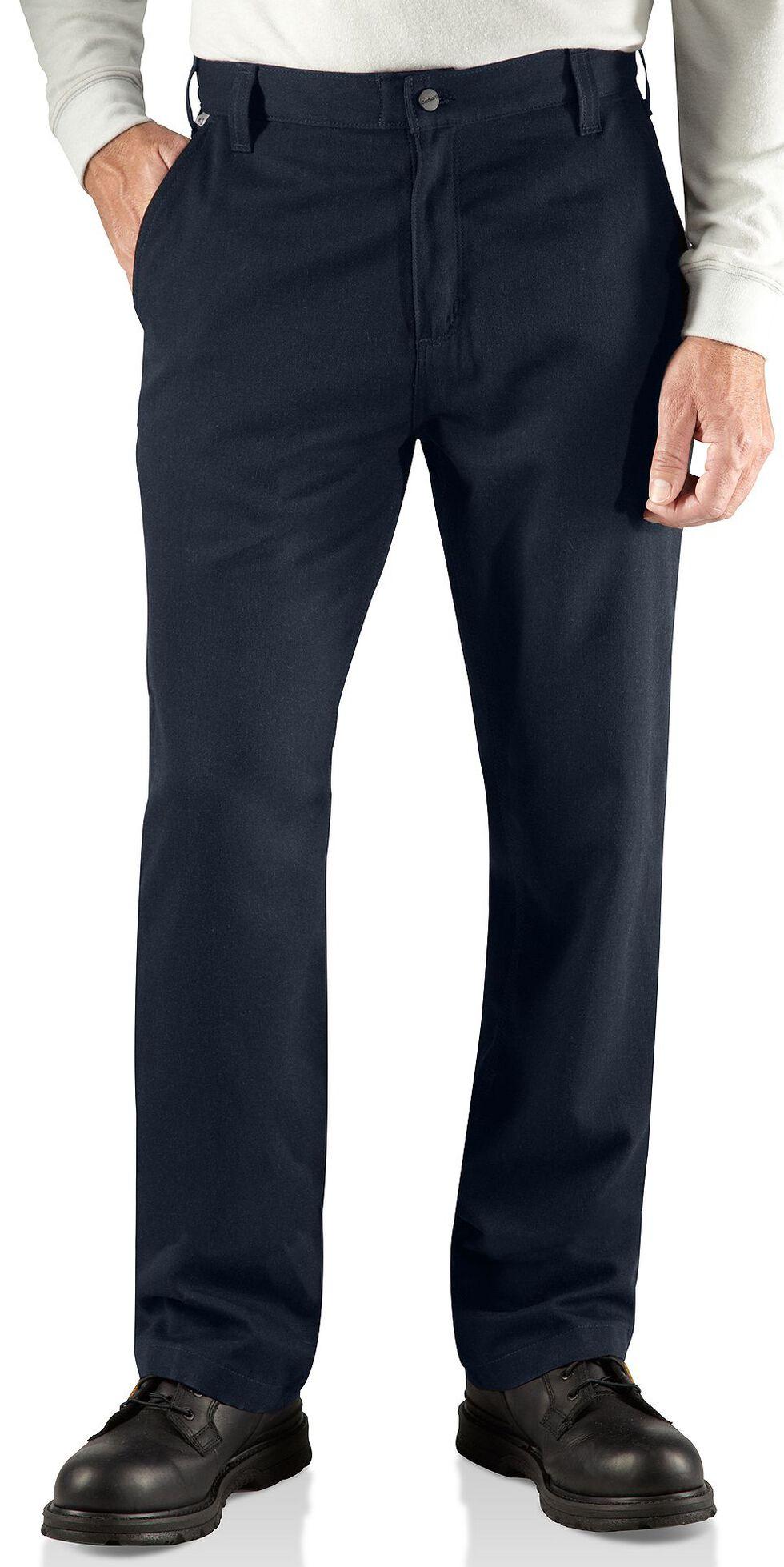 Carhartt Flame Resistant Work Pants - Big & Tall, Navy, hi-res