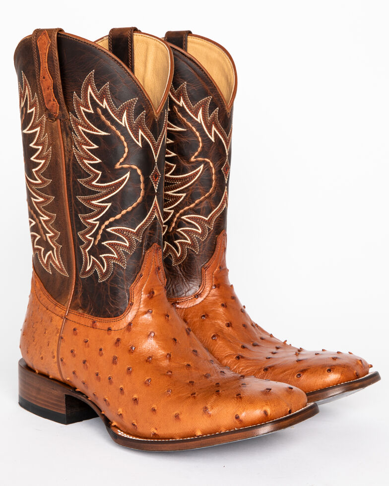 Cody James Men's Full Quill Ostrich Exotic Boots - Square Toe , , hi-res