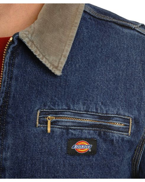 Dickies Corduroy Collar Denim Jacket, Denim, hi-res