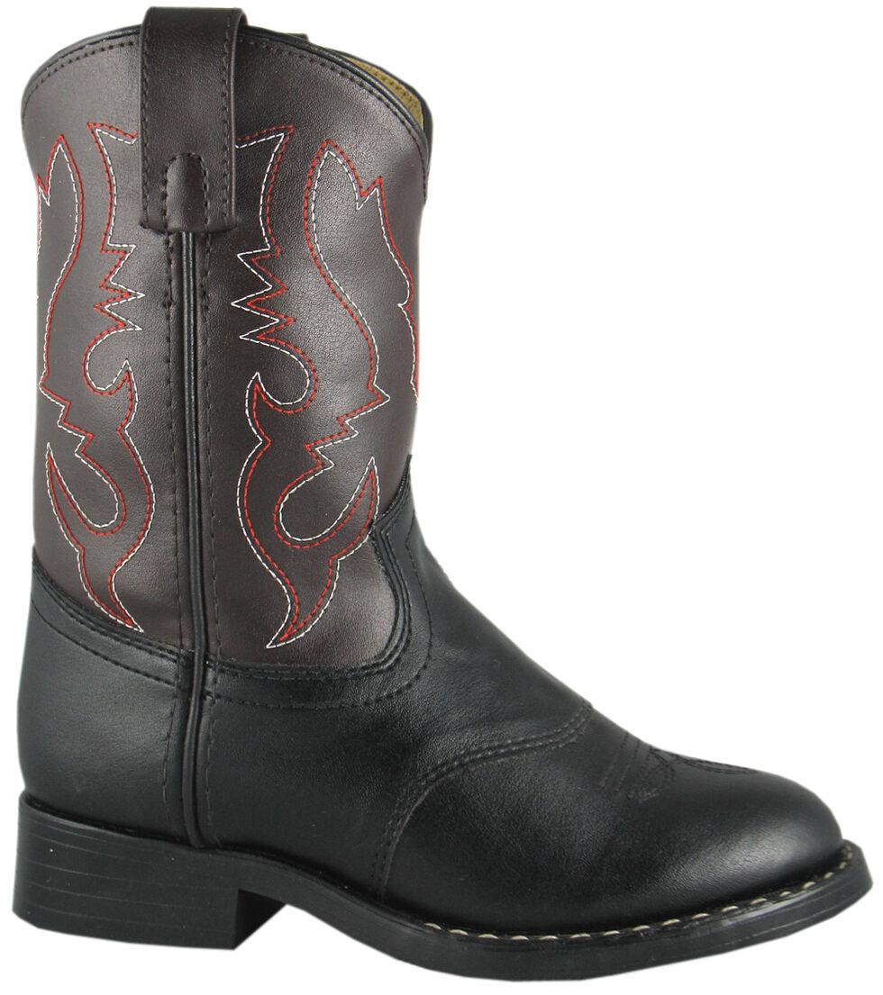 Smoky Mountain Boys' Diego Western Boots - Round Toe, Black, hi-res