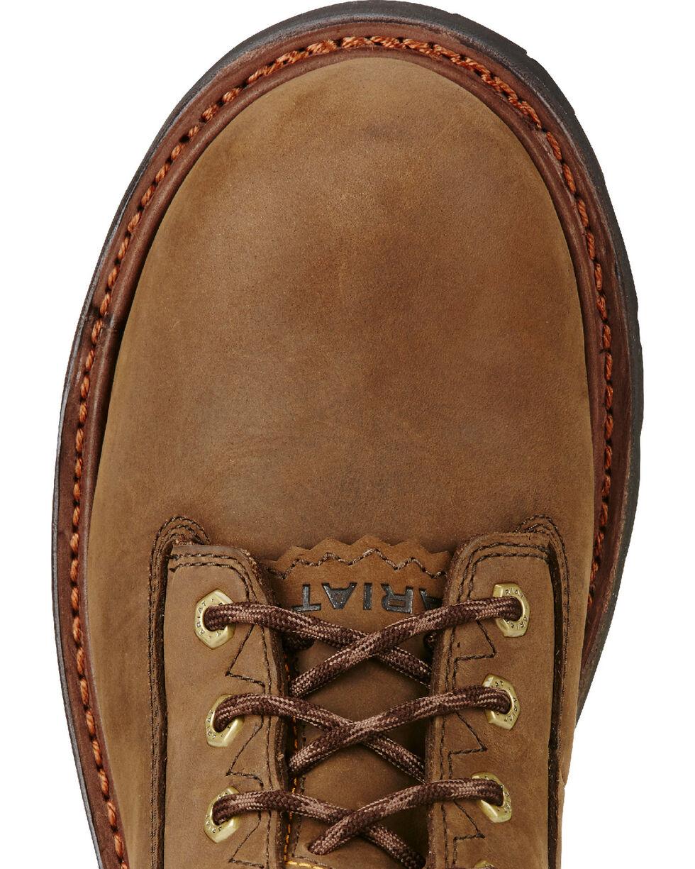 "Ariat Men's Brown Powerline H20 8"" 400g Work Boots - Soft Toe, Brown, hi-res"