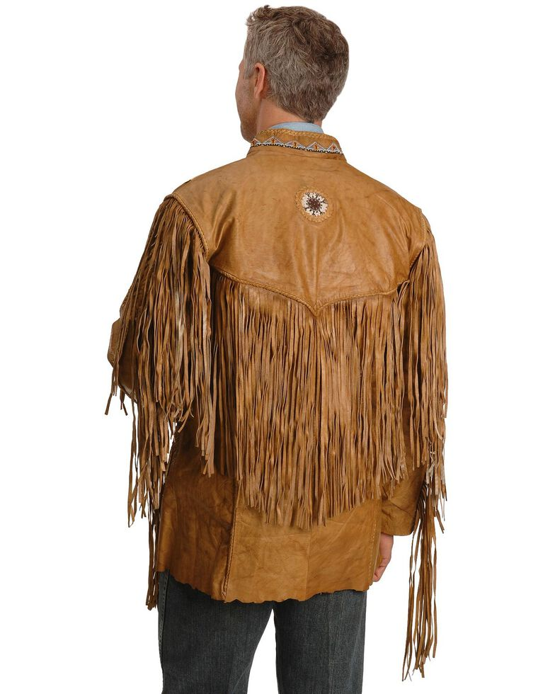Kobler Zapata Fringed Leather Jacket, Beige, hi-res