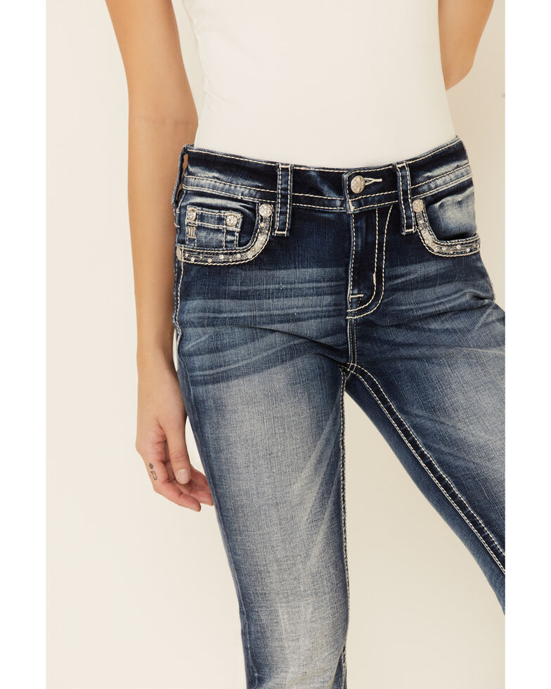 Miss Me Women's Falling Into Place Bootcut Jeans, Blue, hi-res