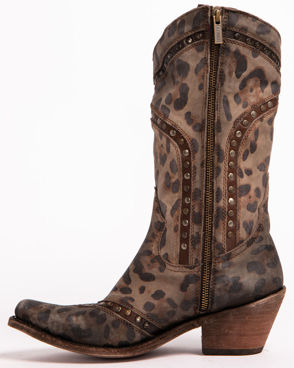 Liberty Black Women's Chita T-Moro Western Boots - Pointed Toe , Cheetah, hi-res