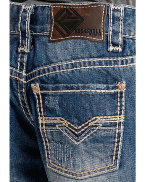 Rock & Roll Cowboy Boys' Faded Regular Fit Jeans - Boot Cut, Indigo, hi-res
