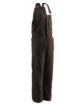 Berne Bark Original Washed Insulated Bib Overalls - 1XShort, Bark, hi-res