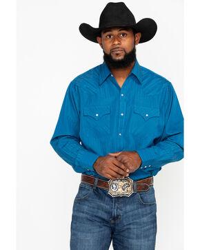 Ely Cattleman Men's Tone On Tone Print Long Sleeve Western Shirt , , hi-res