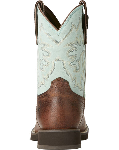 Ariat Women's Lily Short Western Boots - Round Toe, Brown, hi-res