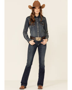 Ariat Women's Corey Bootcut Jeans, Blue, hi-res