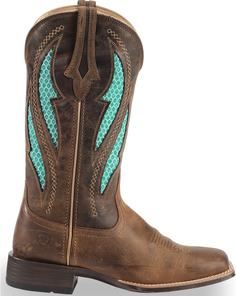 65613333569 Ariat Women's VentTEK Ultra Quickdraw Cowgirl Boots - Square Toe
