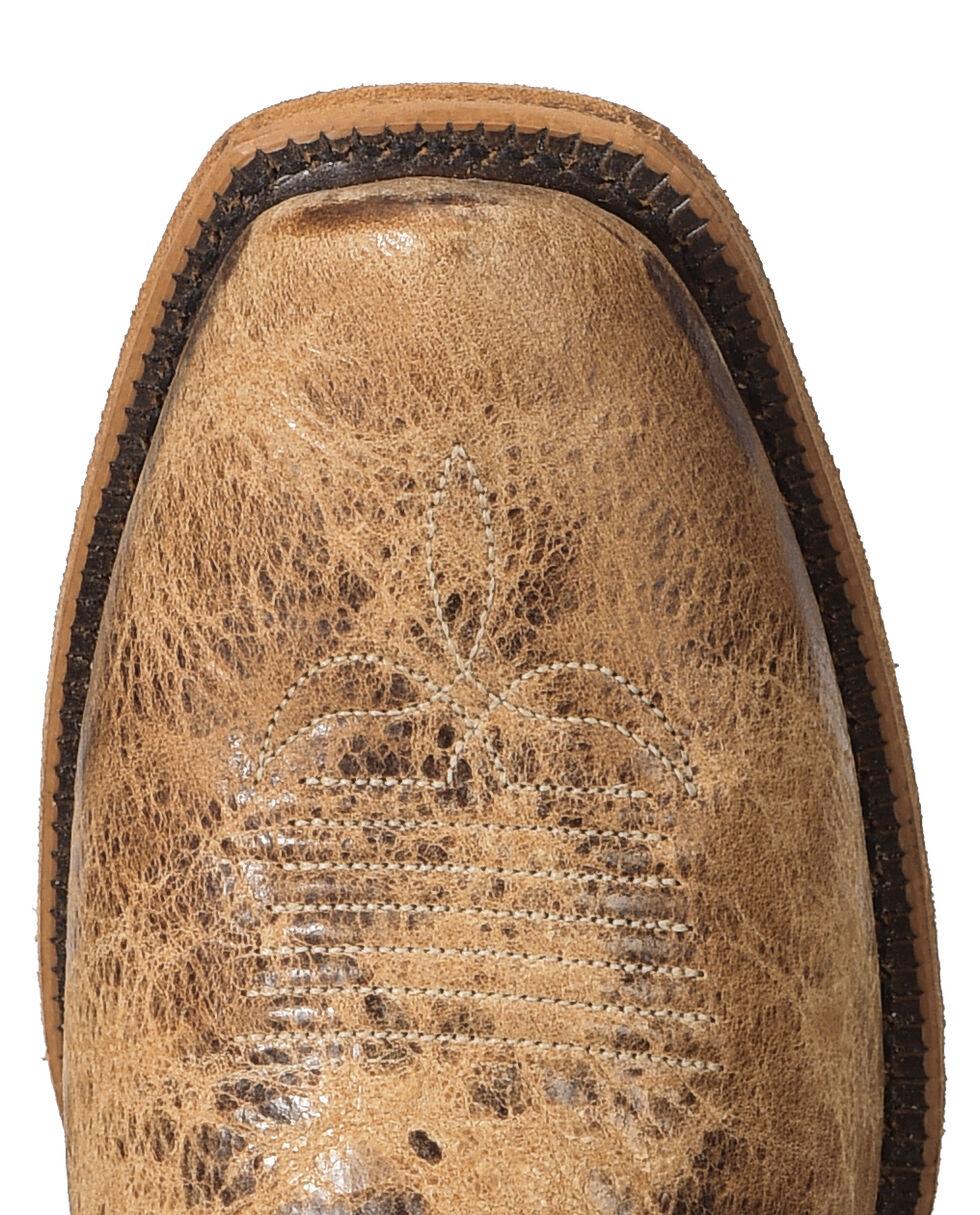 Justin Men's Distressed Cowboy Boots - Square Toe, Tan, hi-res