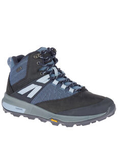 Merrell Women's Zion Waterproof Hiking Boots - Soft Toe, Navy, hi-res