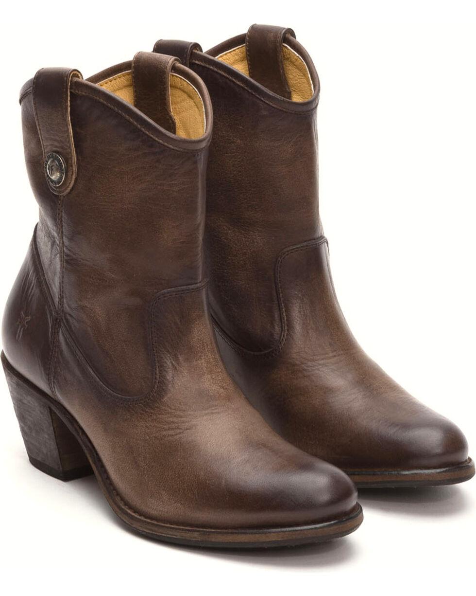 Frye Women's Slate Jackie Button Short Boots - Medium Toe , Grey, hi-res