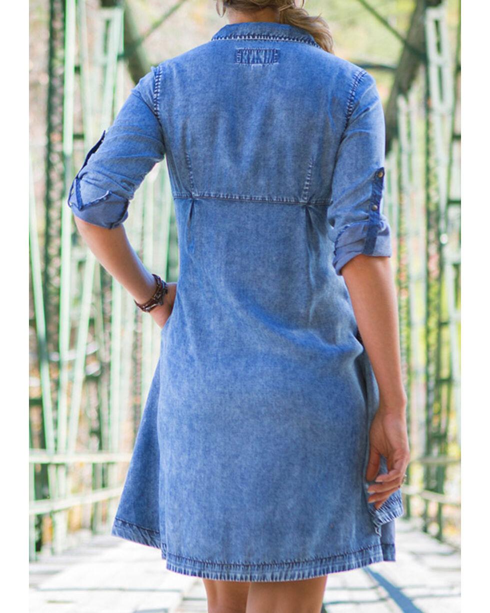 Ryan Michael Women's Indigo Tencel Swing Dress , Indigo, hi-res