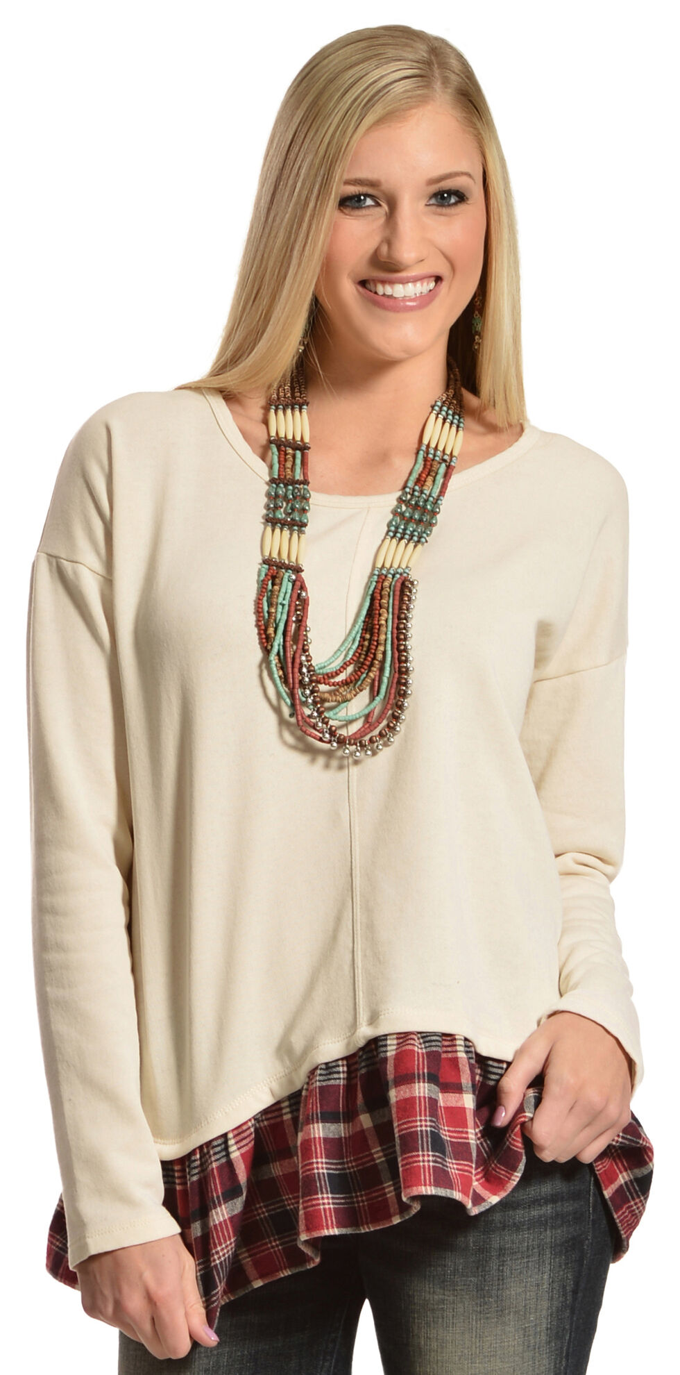 Others Follow Women's Harlan Top , Parchment, hi-res