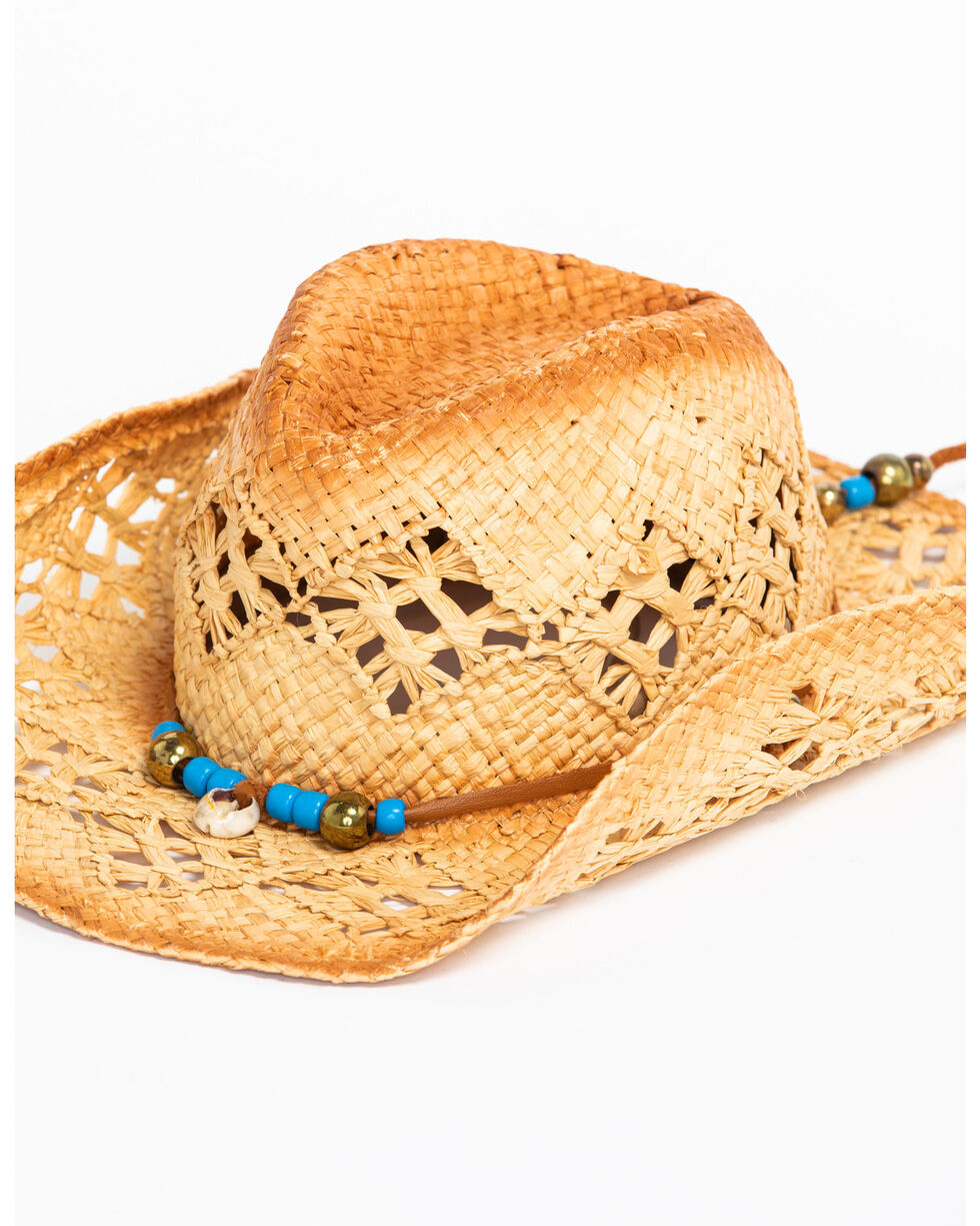 ále by Alessandra Women's Waimea Cowgirl Raffia Hat , Natural, hi-res
