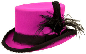 Renegade by Bailey Women's Hot Pink Vivienne Top Hat , Hot Pink, hi-res