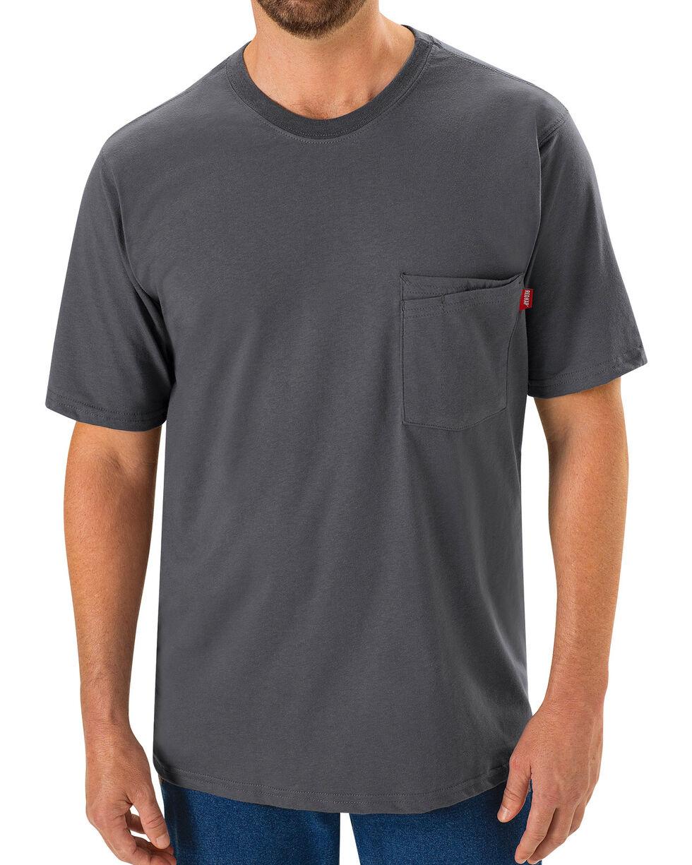 Red Kap Men's Safety Grey Solid T-Shirt , Steel, hi-res