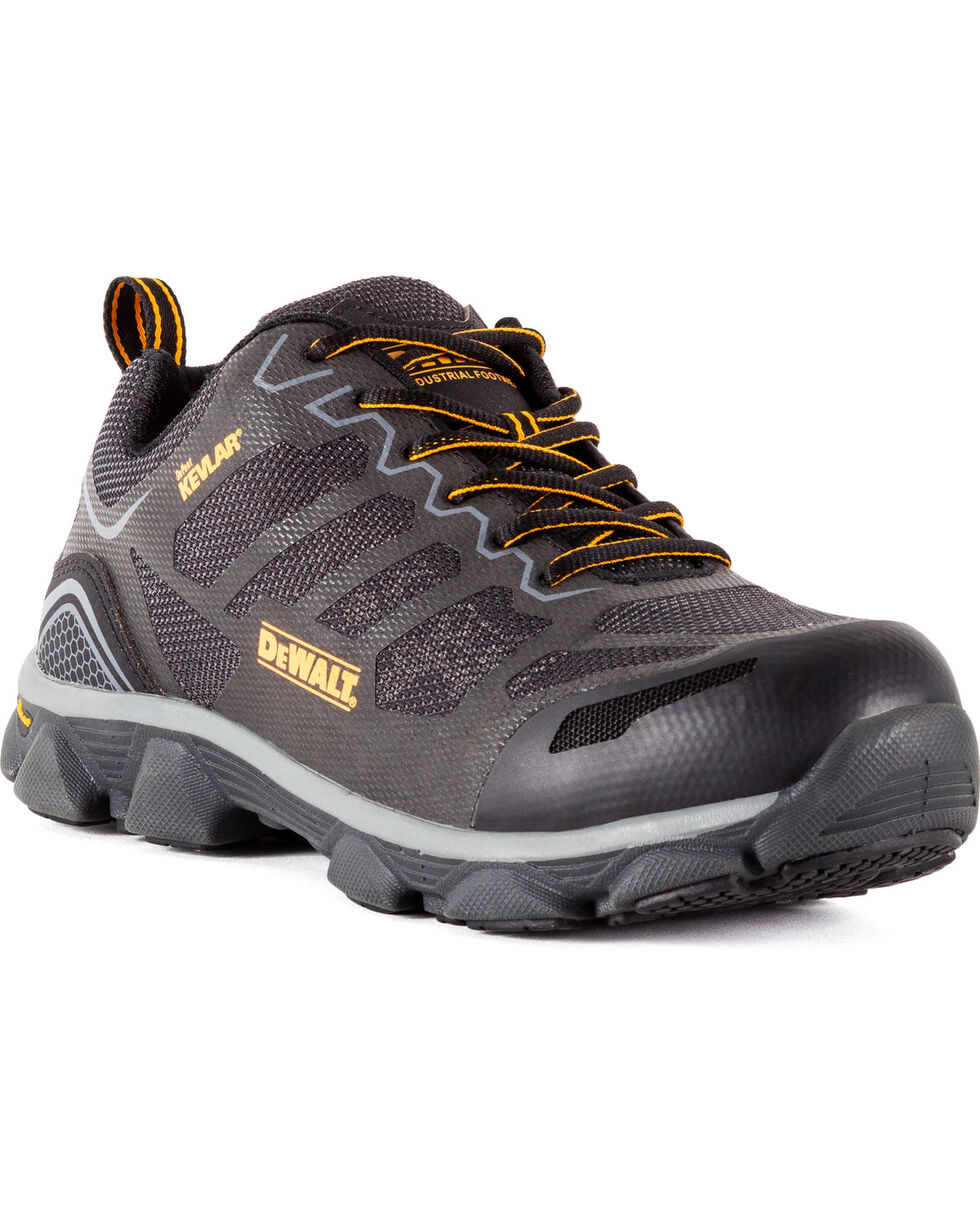 DeWalt Men's Crossfire Low Kevlar Athletic Work Shoes - Aluminum Toe, Dark Grey, hi-res