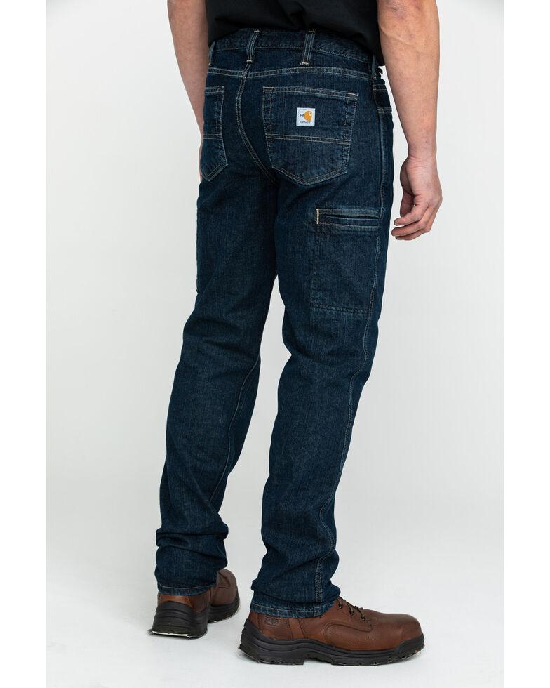 Carhartt Men's FR Rugged Flex Relaxed Bootcut Work Jeans , Indigo, hi-res