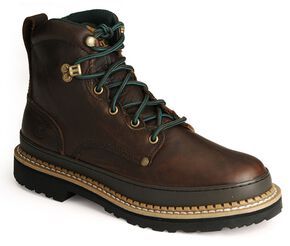 "Georgia Giant 6"" Lace-Up Work Boots - Round Toe, Brown, hi-res"