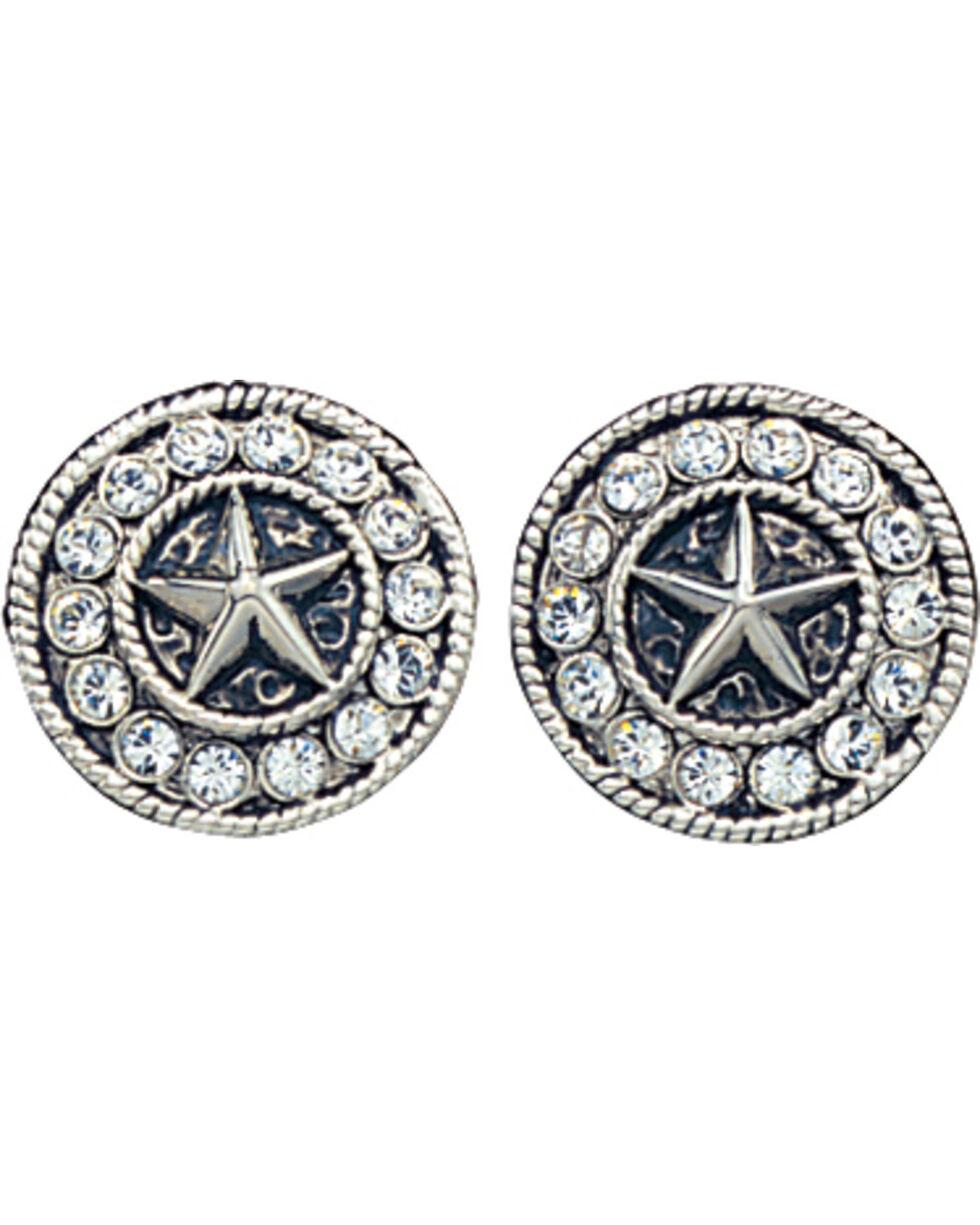 Montana Silversmiths Starlight Concho Earrings, Silver, hi-res