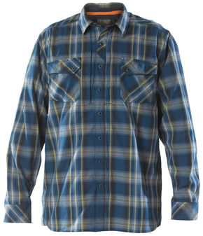 5.11 Tactical Men's Flannel Shirt, Blue, hi-res