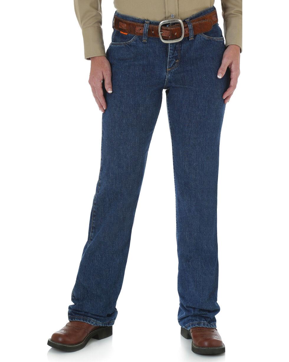 Wrangler Women's FR Flame Resistant Work Jeans , Blue, hi-res