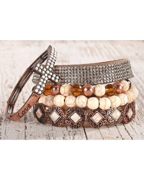Shyanne Women's Copper Multi-Bracelet Set, Rust Copper, hi-res