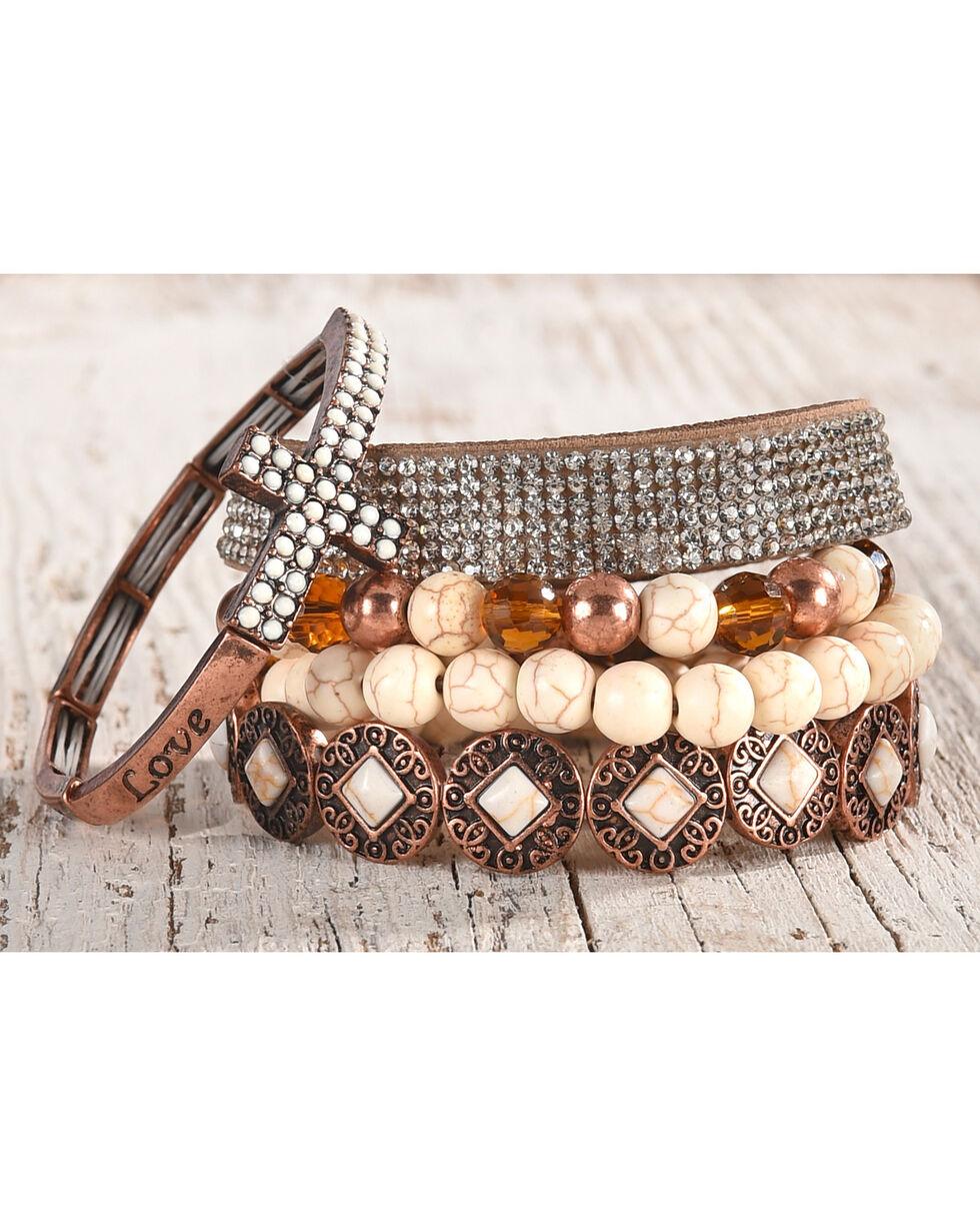 Shyanne Women's Copper Multi-Bracelet Set, Rust Copper, hi-res