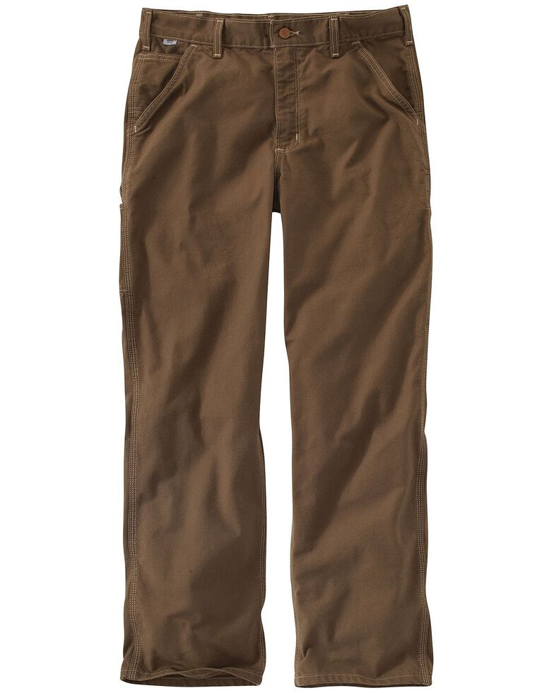 Carhartt Flame Resistant Washed Duck Work Pants, Brown, hi-res