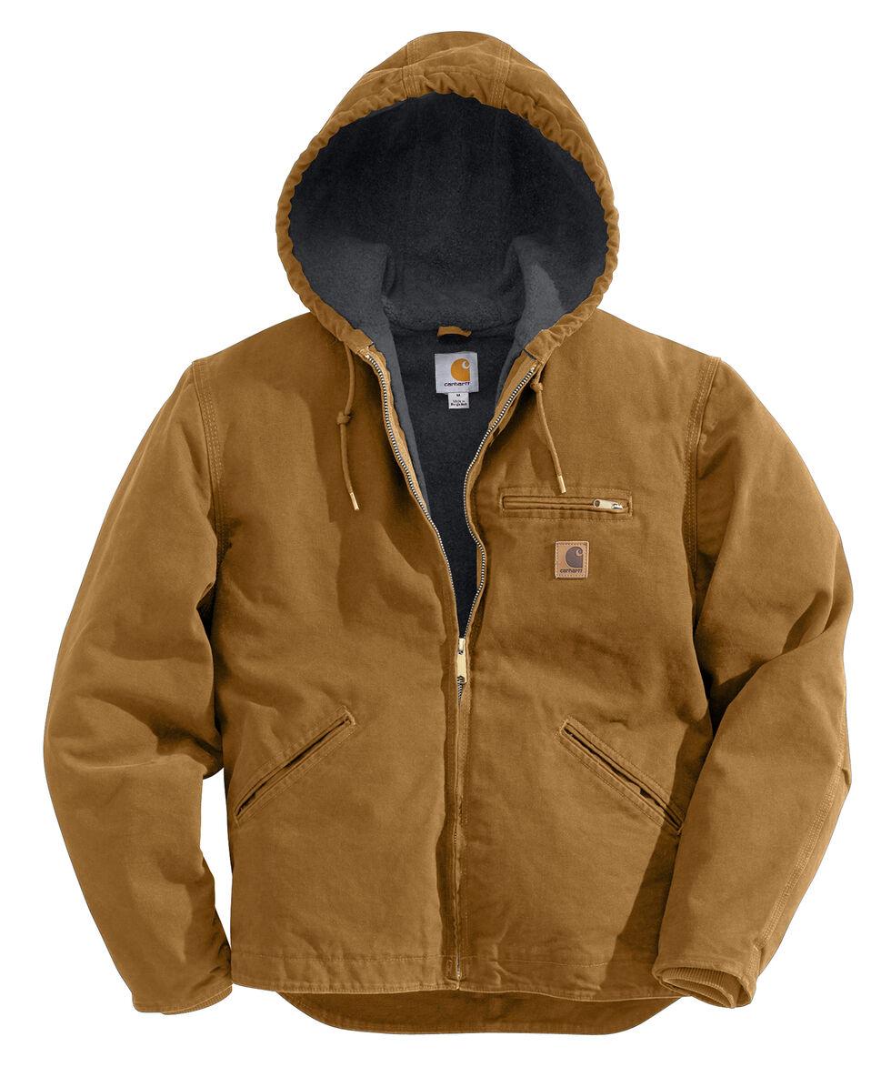Carhartt Sierra Sherpa Lined Work Jacket - Big & Tall, Carhartt Brown, hi-res