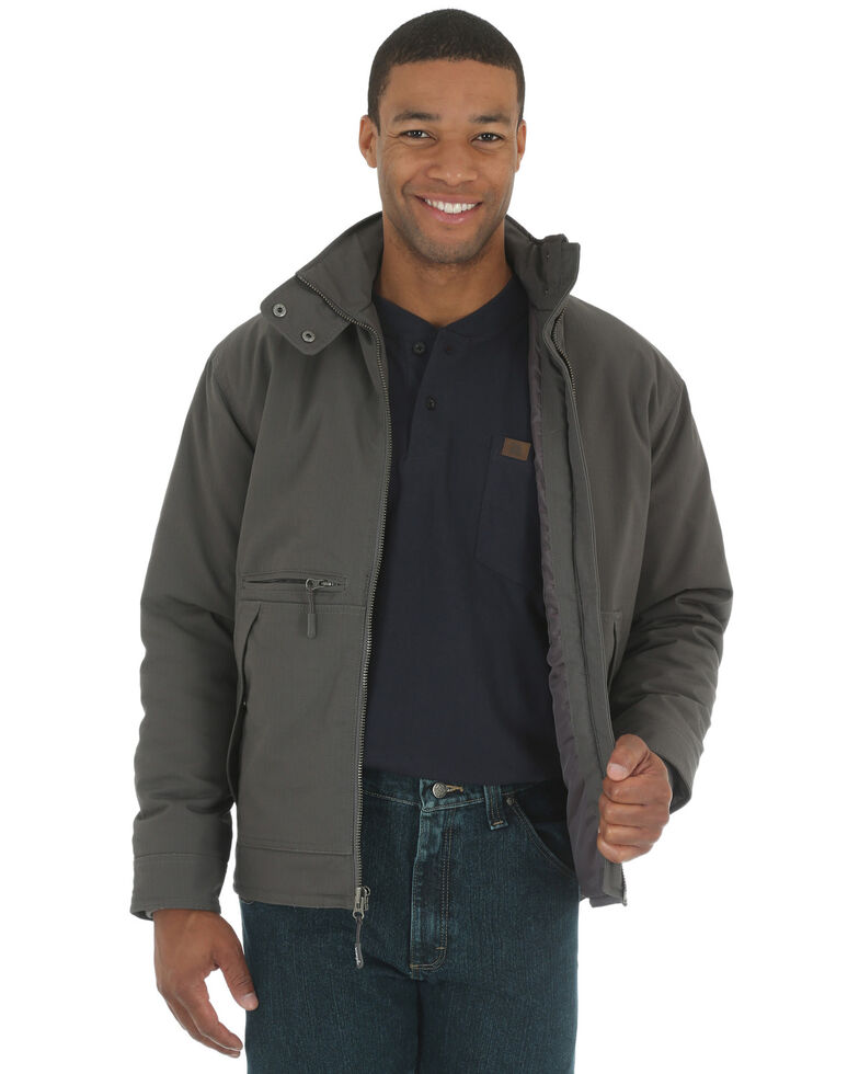 Wrangler Riggs Men's Charcoal Grey Contractor Work Jacket - Big and Tall, Charcoal Grey, hi-res