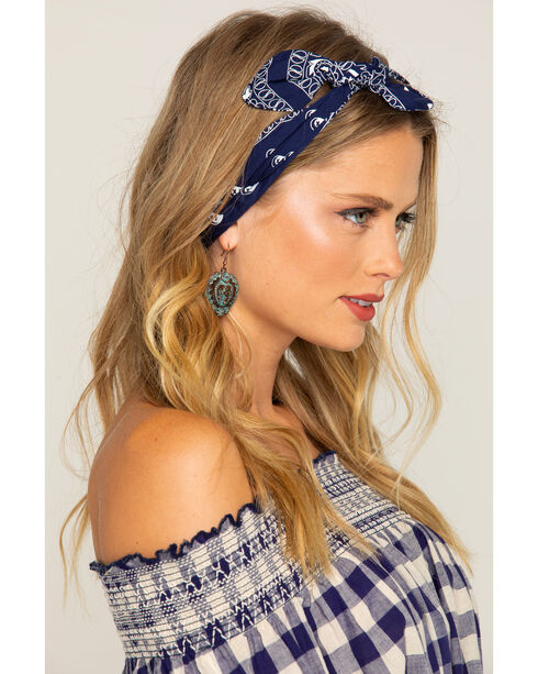 Shyanne Women's Navy Bandana Headwrap, Navy, hi-res