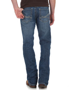 Rock 47 by Wrangler Men's Slim Boot Cut Jeans , Blue, hi-res