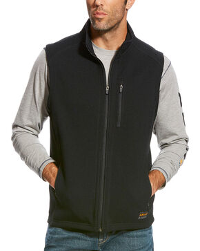 Ariat Men's Rebar Duratek Fleece Vest, Black, hi-res
