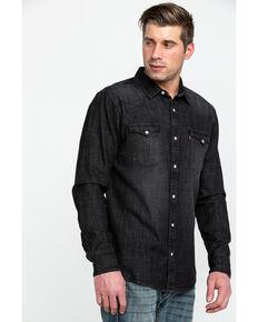 Levi's Men's Smoke Denim Long Sleeve Western Shirt , Black, hi-res