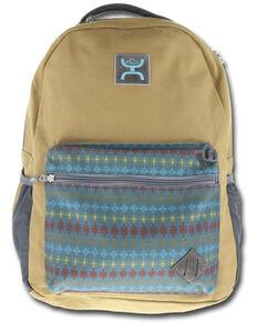 HOOey Tan Aztec Recess Backpack , Tan, hi-res