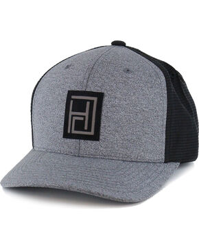 Hooey Men's Grey Smocked Baseball Cap , Grey, hi-res