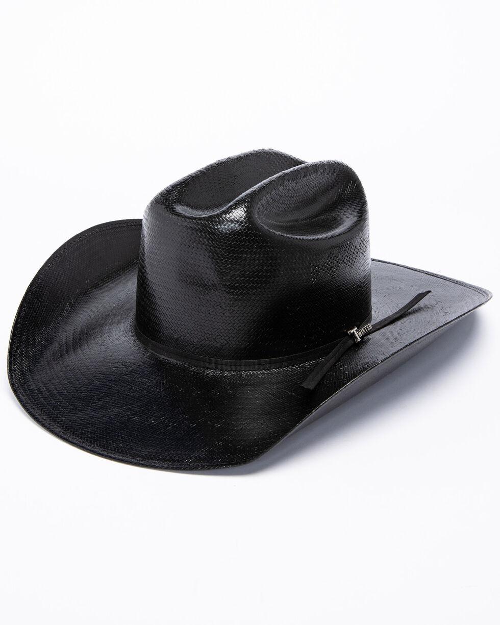 Twister 8X Shantung Straw Cowboy Hat, Black, hi-res