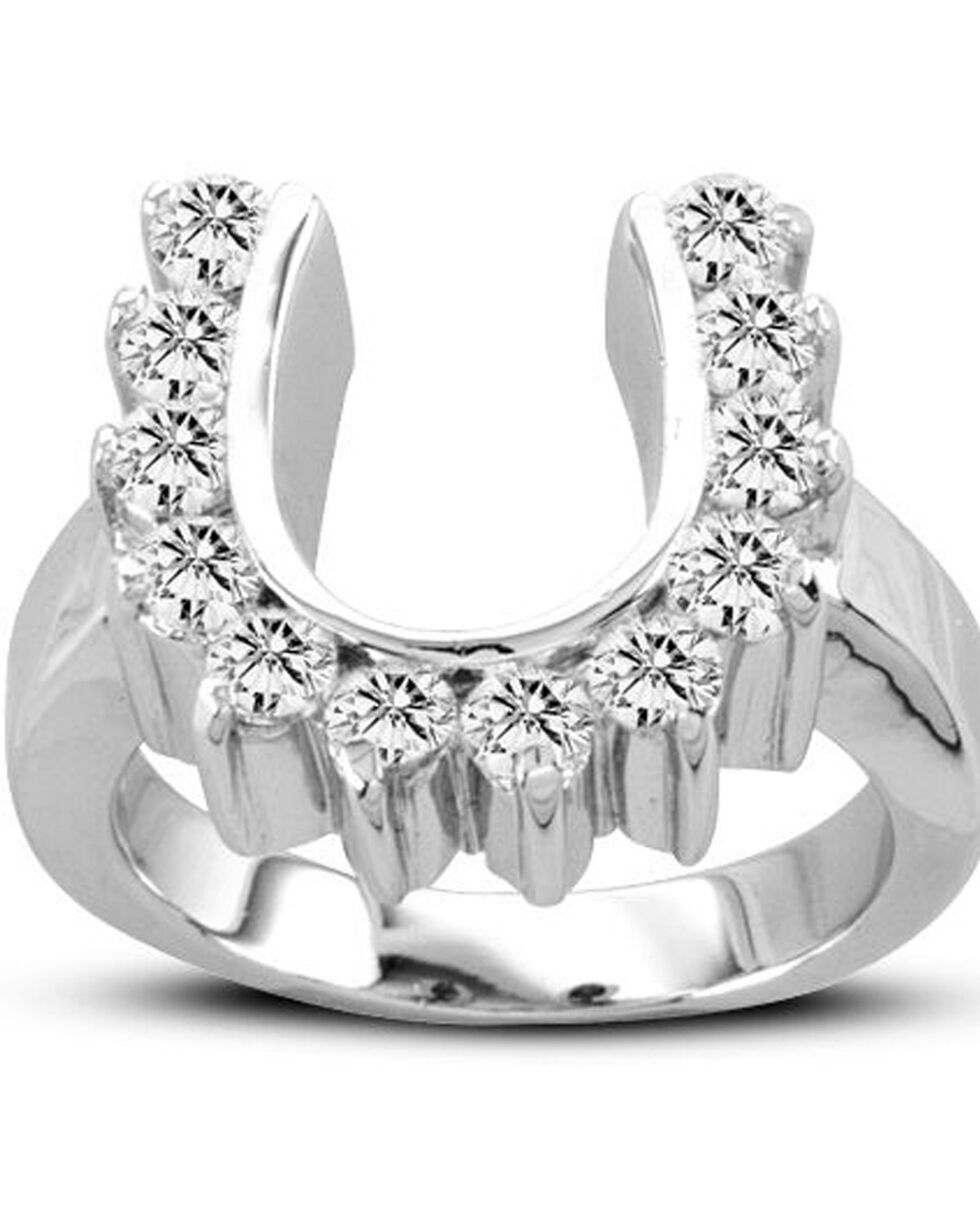 Kelly Herd Women's Silver Scalloped Horseshoe Ring , Silver, hi-res