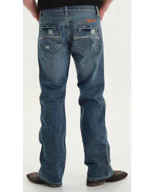 B. Tuff Men's Off Road Boot Cut Jeans, Blue, hi-res
