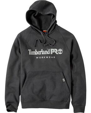 Timberland Men's Black Logo Raglan Hoodie , Black, hi-res